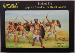 Caesar Miniatures 1/72 CMH050 Egyptian Sherden The Royal Guard (Ancients)